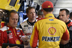 Todd Gordon, Brad Keselowski, Team Penske, Ford Fusion Discount Tire, Joey Logano, Team Penske, Ford Fusion Shell Pennzoil and Paul Wolfe