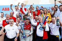 Lucas di Grassi, Audi Sport ABT Schaeffler, 2e, Daniel Abt, Audi Sport ABT Schaeffler, vainqueur du Berlin ePrix