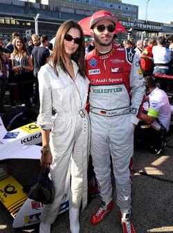 Daniel Abt, Audi Sport ABT Schaeffler, avec la top model Emily Ratajkowski
