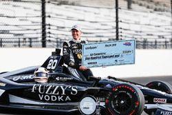 Ed Carpenter, Ed Carpenter Racing Chevrolet poses for front row qualifying photos