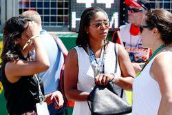 La giocatrice inglese di Cricket Ebony Rainford-Brent