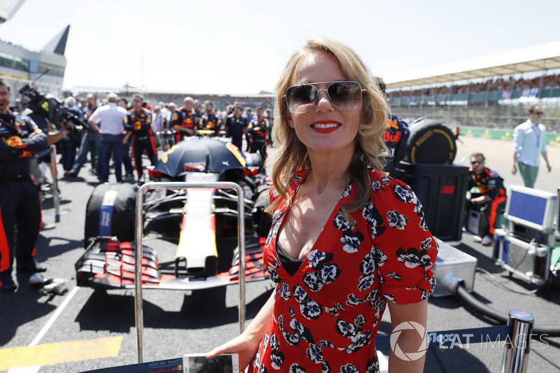 Geri Horner on the grid with the Red Bull team