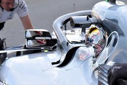 Lewis Hamilton, Mercedes AMG F1 W09 espejo