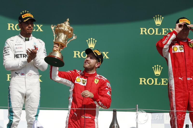 2018: Sebastian Vettel (Ferrari) statt Lewis Hamilton (Mercedes)