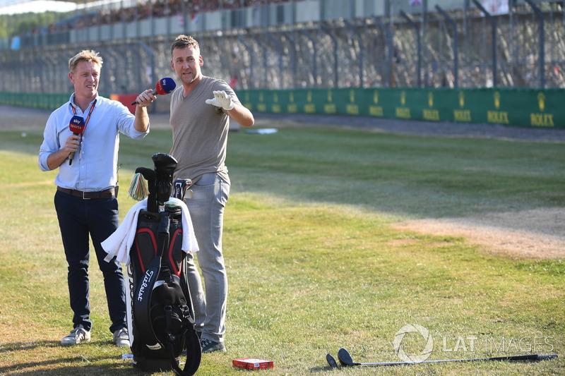 Simon Lazenby, Sky TV e Ian Poulter, golfista