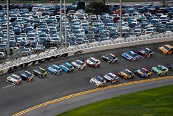Chase Elliott, Hendrick Motorsports, Chevrolet Camaro Hooters, Alex Bowman, Hendrick Motorsports, Chevrolet Camaro Axalta and Jimmie Johnson, Hendrick Motorsports, Chevrolet Camaro Lowe's for Pros