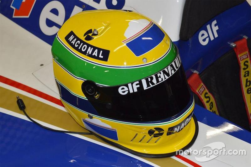 Capacete de 1994 de Ayrton Senna