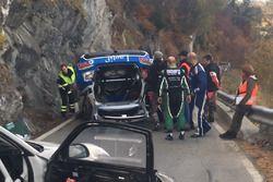 Olivier Burri, Stéphane Rey, Skoda Fabia R5, D-Max Swiss, Accident