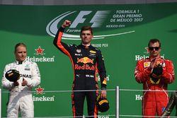 Podium: Max Verstappen, Red Bull Racing, Valtteri Bottas, Mercedes AMG F1, Kimi Raikkonen, Ferrari