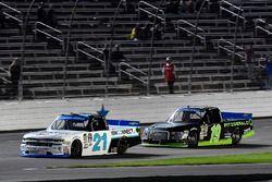 Johnny Sauter, GMS Racing Chevrolet and Austin Cindric, Brad Keselowski Racing Ford