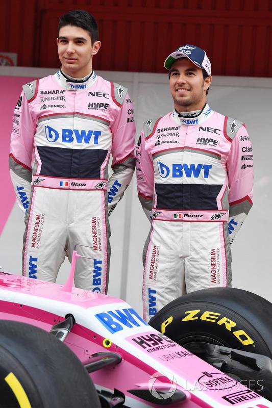Esteban Ocon, Sahara Force India F1 y Sergio Pérez, Sahara Force India