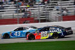 Darrell Wallace Jr., Richard Petty Motorsports, NASCAR Racing Experience Chevrolet Camaro and Alex Bowman, Hendrick Motorsports, Axalta Chevrolet Camaro
