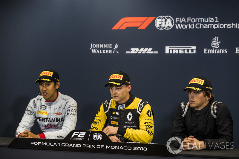Press Conference: Sean Gelael, PREMA Racing, Artem Markelov, RUSSIAN TIME, Roberto Merhi, MP Motorsport