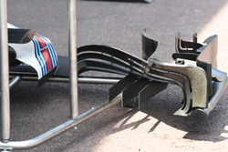 Detalle del ala delantera de Williams FW40