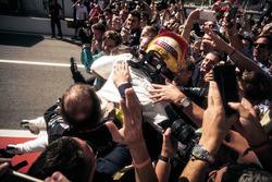 Race winner Lewis Hamilton, Mercedes-Benz F1