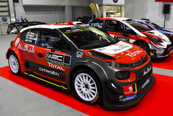 Citroen, Hyundai en Toyota WRC-wagens tentoongesteld