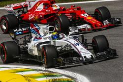 Felipe Massa, Williams FW40, Sebastian Vettel, Ferrari SF70H