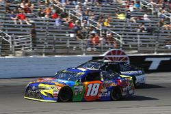 Kyle Busch, Joe Gibbs Racing Toyota and Joey Gase, Tommy Baldwin Racing Chevrolet
