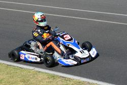 Daniel Ricciardo, Red Bull Racing, fait du karting
