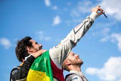Lucas di Grassi, Audi Sport ABT Schaeffler, Sam Bird, DS Virgin Racing, celebrate on the podium