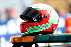 The helmet of Safety Car driver Chelo Bresciani