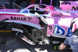 Force India VJM11, dettaglio dei deviatori di flusso
