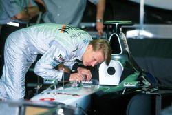 Le vainqueur, Mika Häkkinen, McLaren-Mercedes