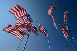 Banderas americanasAmerica Flags, pre race grid