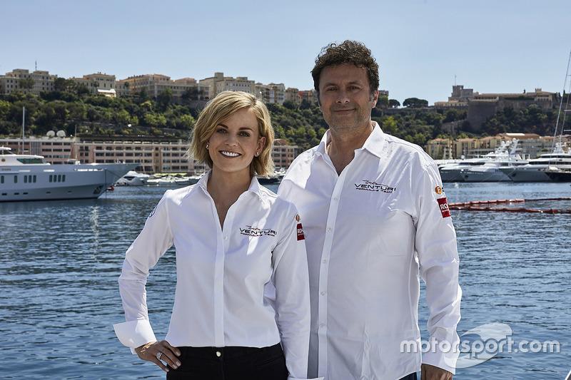 Susie Wolff, jefa de equipo de Venturi Formula E Team, Gildo Pallanca Pastor, propietario de Venturi Formula E Team