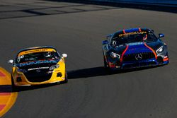 #46 Team TGM, Mercedes-AMG, GS: Hugh Plumb, Owen Trinkler, #66 Riley Racing, Mazda MX-5, ST: Jameson Riley, AJ Riley