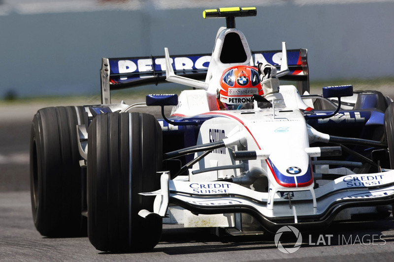 Robert Kubica, BMW Sauber F1.08 festeggia la sua vittoria