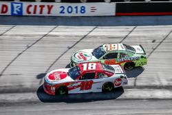 Ryan Preece, Joe Gibbs Racing, Toyota Camry Rheem battles teammate Brandon Jones, Joe Gibbs Racing, Toyota Camry Toyota Menards/Turtle Wax