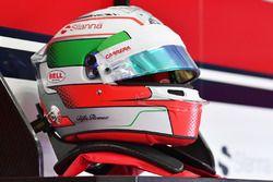 Il casco di Antonio Giovinazzi, Sauber