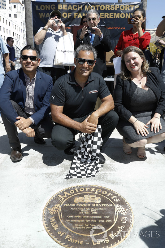 Long Beach Walk of Fame inductee Juan Pablo Montoya