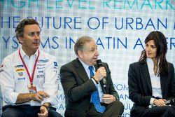 Alejandro Agag, CEO, Formula E, Jean Todt, FIA President, Virginia Elena Raggi, Mayor of Rome, in th