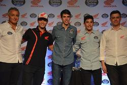 Eric Granado, Álex Márquez y Marc Márquez