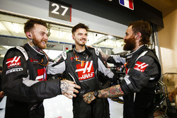Haas F1 pit crew after the race