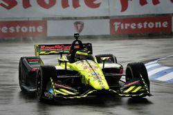 Sébastien Bourdais, Dale Coyne Racing with Vasser-Sullivan Honda en qualifications sous la pluie