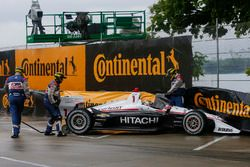 Josef Newgarden, Team Penske Chevrolet, Crash