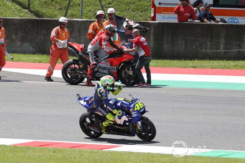 Ganador de carrera Jorge Lorenzo, Ducati Team, Valentino Rossi, Yamaha Factory Racing
