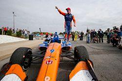 Scott Dixon, Chip Ganassi Racing Honda, Scott Dixon, Chip Ganassi Racing Honda, vainqueur, fête sa 42e victoire