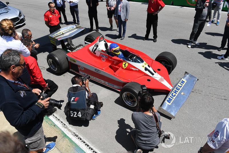 Jacques Villeneuve, pilota el Ferrari 312T con el que su padre ganó el GP de Canadá 1978