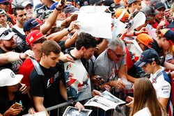 Felipe Massa, Williams, signs autographs for fans