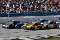 Kasey Kahne, Hendrick Motorsports Chevrolet, Matt Kenseth, Joe Gibbs Racing Toyota, and Kyle Busch, Joe Gibbs Racing Toyota