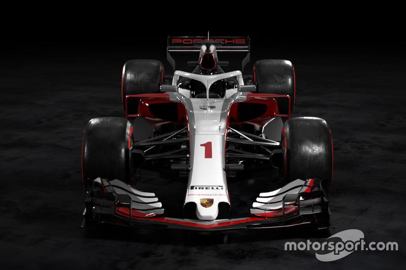 Posible aspecto de un Porsche de F1