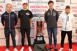 Felix Rosenqvist, Team LeMans, Pierre Gasly, Team Mugen, Hiroaki Ishiura, Cerumo Inging, Yuhi Sekiguchi, Team Impul