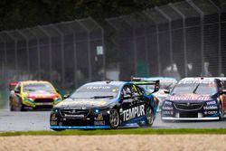 Nick Percat, Brad Jones Racing Holden, leads Shane van Gisbergen, Triple Eight Race Engineering Hold
