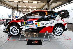 La voiture d'Esapekka Lappi, Janne Ferm, Toyota Gazoo Racing WRT Toyota Yaris WRC