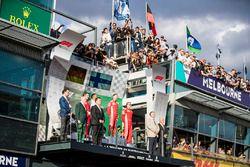 Iñaki Rueda, estratega de Ferrari, Lewis Hamilton, Mercedes AMG F1, Sebastian Vettel, Ferrari, y Kim