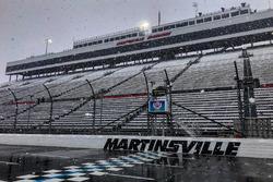 Martinsville Speedway'de kar yağışı